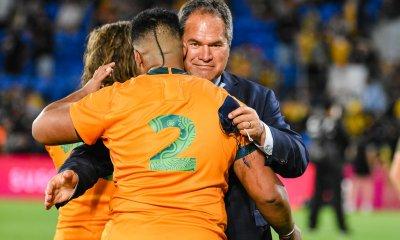 Dave Rennie congratulates Folau Faingaa