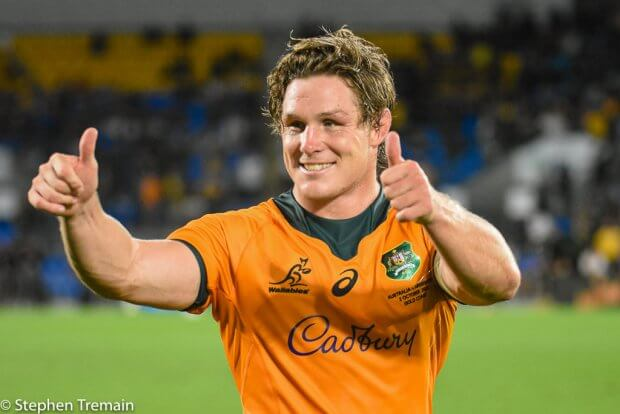 Two thumbs up from Michael Hooper